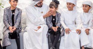 Muhammed bin Raşid çocuklarına evde eğitim veren aileyi ziyarete gitti