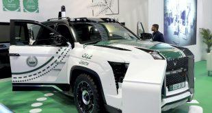 Dubai polisinin yeni kurşun geçirmez arabası Idex Fuarı'nda