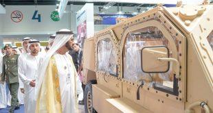 Şeyh Muhammed bin Raşid, IDEX 2019 Fuarı'nı ziyaret ediyor