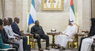 Muhammed bin Zayed, Sierra Leone'un Başkanı Julius Maada'yı kabul etti