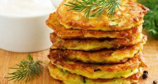 Vejetaryenler için lezzetli sebzeli pankek