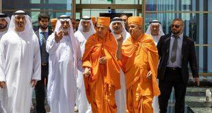 Hindu liderleri Abu Dabi tapınağına ilk taşı koymak için geldiler