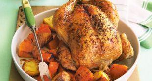 Fırında özel baharatlı iç pilavlı tavuk tarifi