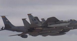 Suudi Arabistan ve ABD'nin savaş uçakları Körfez üzerinde uçtu (VİDEO)