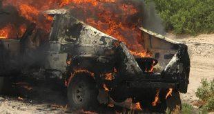 Yarışta aracı yanan Suudi ralliciler ölümden döndü