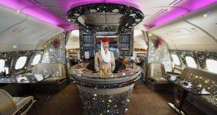 Burası mücevher dükkanı değil Emirates'in uçağı!