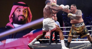 Nefes kesen boks maçını Suudi Veliaht Prensi ayakta izledi