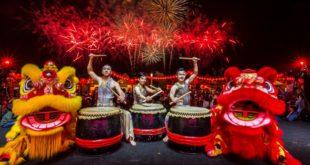 Çin Yeni Yılı için BAE'de havai fişek gösterisi gerçekleştirildi