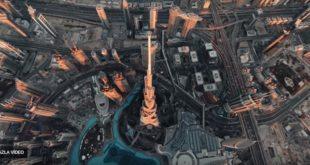 Dünyanın en yüksek binasının inanılmaz drone videosu yayınlandı