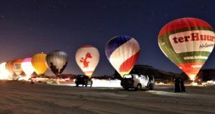 Çöldeki büyülü balon gösterisi Guinness rekoru kırdı