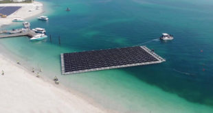 İşte BAE'nin ilk yüzen güneş enerjisi santrali