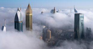 Sisler altında kalan Dubai'den kareler