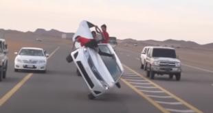 Suudi Arabistan'da iki teker çılgınlığı (VİDEO)