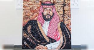 2 milyon değerli taştan Veliaht Prens Muhammed bin Selman portresi yaptı