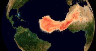 Sahra Çölü'nden ABD'ye kadar giden devasa toz bulutu uzaydan görüntülendi