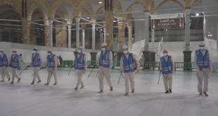 Kabe'de temizlik vakti (VİDEO)