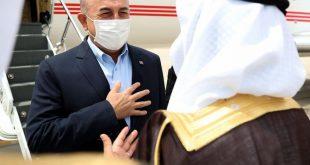 Çavuşoğlu: Bölgemizi ilgilendiren önemli konuları görüşmek üzere Suudi Arabistan'dayız