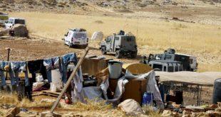 İsrail ordusu Filistinlilerin Ramallah yakınlarındaki çadırlarını yıktı
