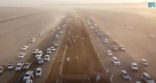 Suudi Arabistan'ın Tebük Meydanı'nda deve yarışı heyecanı (VİDEO)